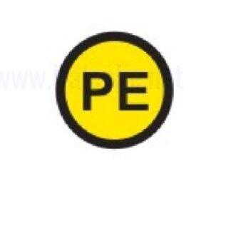 Zbiralke Zaščitni vodnik PE premer 16mm, pola: 20 nalepk