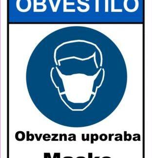 CORONA VIRUS obvezna uporaba maske