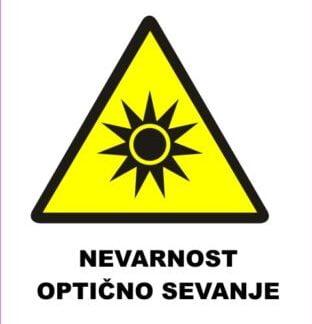 Nevarnost optično sevanje