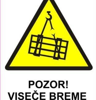 Pozor viseče breme