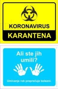 koronavirus karantena umivanje rok