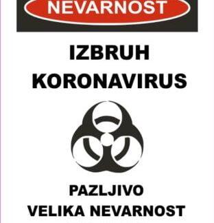 nevarnost izbruh koronavirus velika nevarnost infekcije