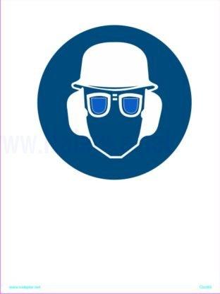 Obevzna uporaba čelade slušnikov in očal