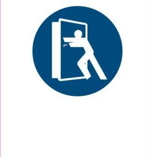 obvezno zapiraj vrata