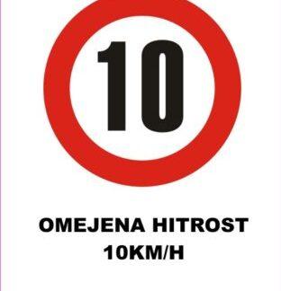 omejena hitrost 10 km/h 2