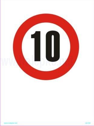 omejena hitrost 10 km/h