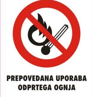 prepovedana uporaba odprtega ognja 2