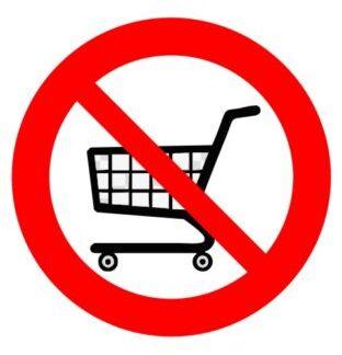 Prepovedano z nakupovalnimi vozički