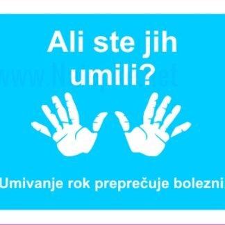 Umivanje rok preprečuje bolezni