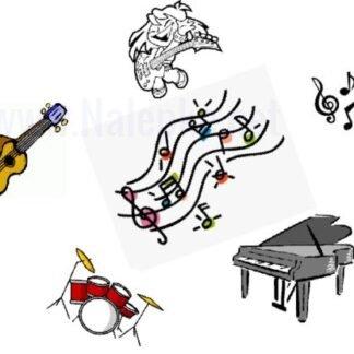 Nalepke za glasbenike