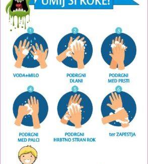 Navodila za umivnje rok za vrtce in šole