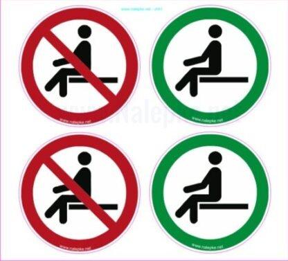 Ohranjanje varnostne razdalje - sedenje premer 60 mm