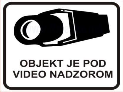 Objekt je pod video nadzorom