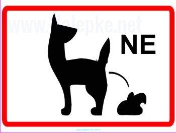 prepovedano kakanje za pse 2