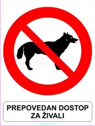 Prepovedan dostop za živali