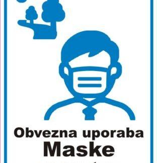 Obvezna uporaba maske na prostem