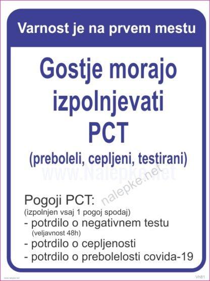 Navodila za stranke -covid-19 - Gostje morajo izpolnjevati pct preboleli cepljeni testirani2
