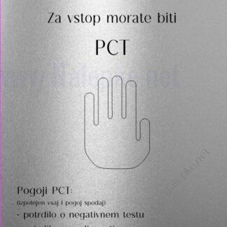 Varnost je na prvem mestu za vstop morate biti PCT srebrna
