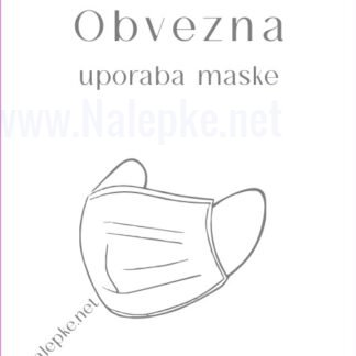 Obvezna uporaba maske - bela