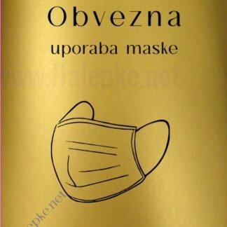 Obvezna uporaba maske - zlata