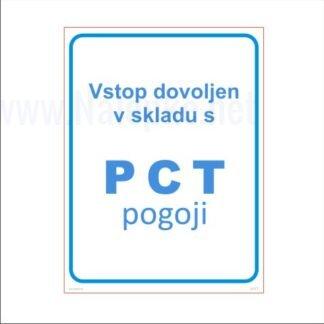 Vstop dovoljen v skladu s PCT pogoji za šole in javne ustanove